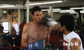 Video: 'Tosh.0' Host Takes Jaw Punch From Manny Pacquiao
