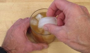 Tropically Influenced Manhattan Cocktail