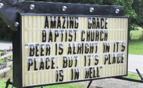 "Church Sign Epic Fails, ""Beer in Hell"" Edition"