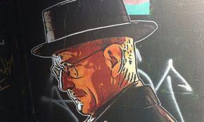 hat man breaking bad graffiti