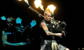 A Man, Flaming Bagpipes & AC/DC Need I Say More? (Video)