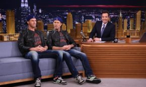 Conversation with Chad Smith after Tonight Show Drum-off.