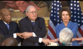 """GOP and Dem Leaders Hold Hands, Sing """"We Shall Overcome"""""""