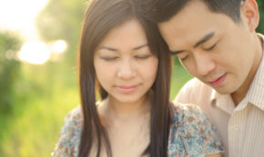 romantic asian couple