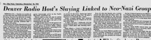 The Denver Post, Tuesday, December 18, 1984.