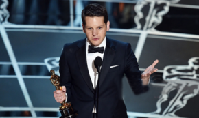 Graham Moore Wins Oscars Night: 'Stay Weird. Stay Different.'