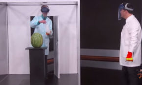 Because You Always Wanted to See Science Bob Blow Up a Watermelon