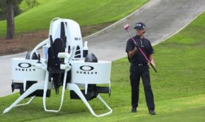 Next Time You Hit the Links, Carry Your Clubs in a Flying Golf Cart