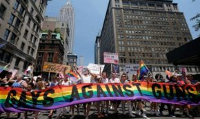 Gays Against Guns Stands Up by Lying Down