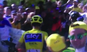 Tour De France Leader Ruins His Bike in a Crash, Runs the Course Instead