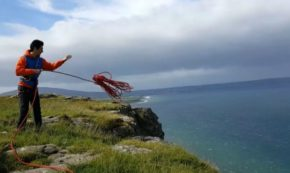 Climber Tries To Throw Rope Down Cliff, Nature Promptly Returns It To Him