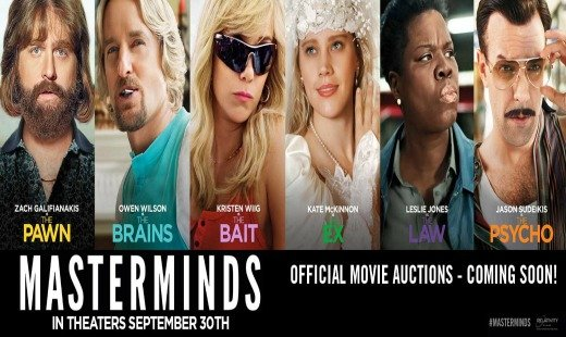 masterminds, comedy, heist, true story, relativity media