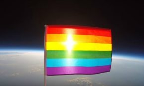 Watch a Rainbow Flag Drift Through Outer Space and Spread Homosexuality Across the Universe