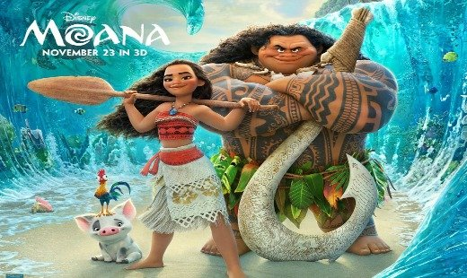 moana, animated, fantasy, action, adventure, walt disney pictures