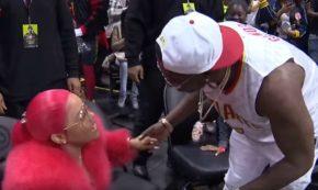 Gucci Mane's Legendary Kiss Cam Proposal to Keyshia Ka'oir at Hawk's Game