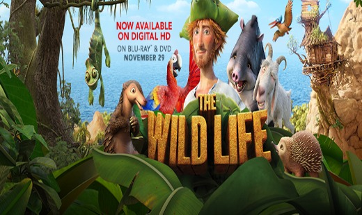 the wild life, computer animated, family, robinson crusoe, review, summit entertainment