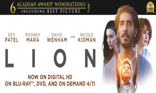 lion, drama, biographical. review, dev patel, adaptation, the weinstein company
