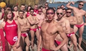 Gay Water Polo Team Finds Unique way to get into the Competition's Heads