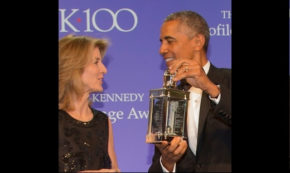 Potus Obama Accepts JFK Library Profile in Courage Award