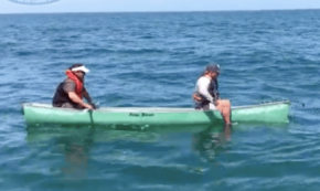 Gargantuan Grouper Flips Unlucky Fishermen's Boat