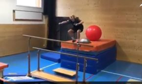 Elite Skier Shows Off His Absurdly Difficult Workout Course