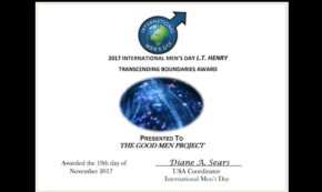 The Good Men Project is the Recipient of the 2017 International Men's Day L.T. HENRY Transcending Boundaries Award