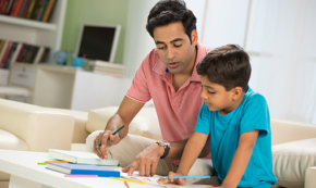 A Father's Involvement with Homework can Help Kids Learn to be Independent