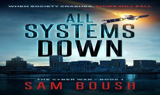 all systems down, the cyber war, mystery, thriller, review sam boush, lakewater press