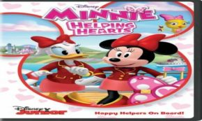 minnie helping hearts, happy helpers, mickey and the roadster racers, computer animated, dvd, review, disney junior
