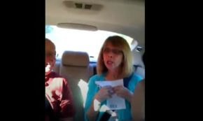 Woman Has Hysterical, Guttural Reaction Upon Finding Out She's Going To Be A Grandma