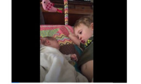 Boy Is Overcome By Emotion After Singing Lullaby To His Baby Sister