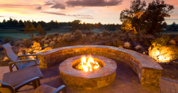 How To Put In The Perfect Backyard Patio And Fire Pit This Summer. Make A  Guyu0027s Ultimate Grilling And Summer Paradise.