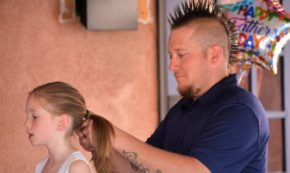 First Ever Father's Day Daughter Hair Class and Party