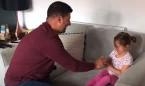 Dad Proposes To 4-Year-Old Daughter To Make Her Feel Like She's Part Of The Wedding