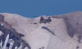 Chopper Just Digs Into the Snow to Pull off This Stunning Mountaintop Helicopter Rescue