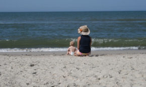 Summer Vacation: Footprints in the sand