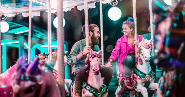 Romance on carousel