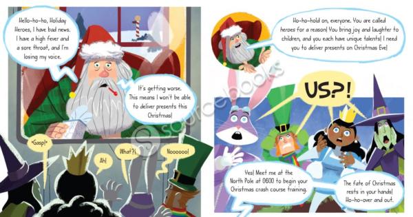 Save Christmas.A Sick Santa Needs Help In Holiday Heroes Save Christmas