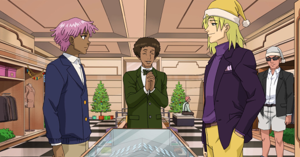 Neo Yokio Pink Christmas.Join Kaz For Some Holiday Hijinks In Neo Yokio Pink