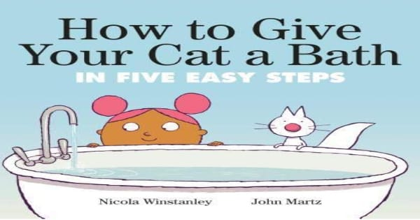 See A Little Girl Take On A Tough Task In How To Give Your Cat A
