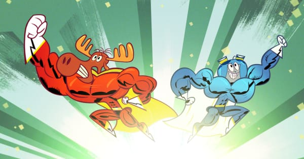 adventures of rocky and bullwinkle, tv show, animated, comedy, action, adventure, season 2. review, dreamworks animation, amazon video