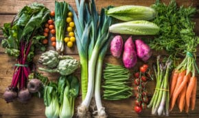By marcin jucha Local market fresh vegetable, garden produce, clean eating and dieting concept