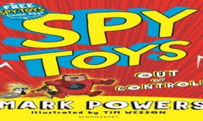 out of control, spy toys, children's fiction, mark powers, net galley, review, bloomsbury children's books