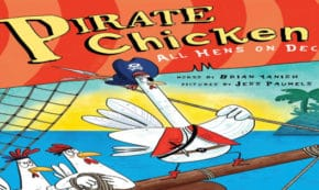 all hens on deck, pirate chicken, children's fiction, brian yanish, net galley, review, source books