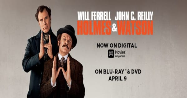 holmes and watson, comedy, will ferrell, john c reilly, steve coogan, ralph fiennes, dvd, review, sony pictures