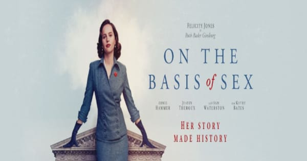 on the basis of sex, biographical, drama, felicity jones, armie hammer, kathy bates, blu-ray, review, focus features, universal pictures