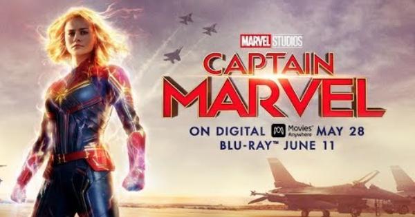 captain marvel, superhero, brie larson, samuel l jackson, jude law, clark gregg, blu-ray, review, walt disney pictures