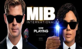 men in black international, science fiction, action, comedy, sequel, chris hemsworth, tessa thompson, review, sony pictures