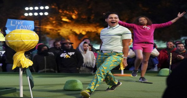 putt up or shut up, holey moley, tv show, sports, reality, competition, review, abc