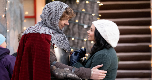 knight before christmas, comedy, christmas, vanessa hudgens, review, netflix
